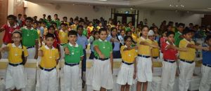 Students taking a Pledge to Promote & Protect Girls