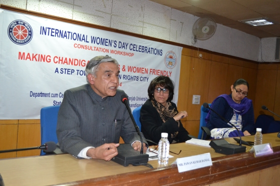 Mr. Pawan Kumar Bansal, MP addressing the participants