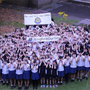 Caption: Students of the Burwood Girl's High School of Australia supporting the abducted students in Nigeria
