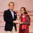 Shen Wen-chiang, Deputy Director-General, Department of NGO International Affairs, MOFA with Shopna Sathi, winner of the 3rd Asian Girl Human Rights Award